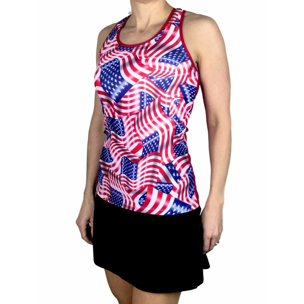 American Flag Athletic Tank, Golf Shirt, Tennis Shirt, Running Shirt or Top, Yoga Top