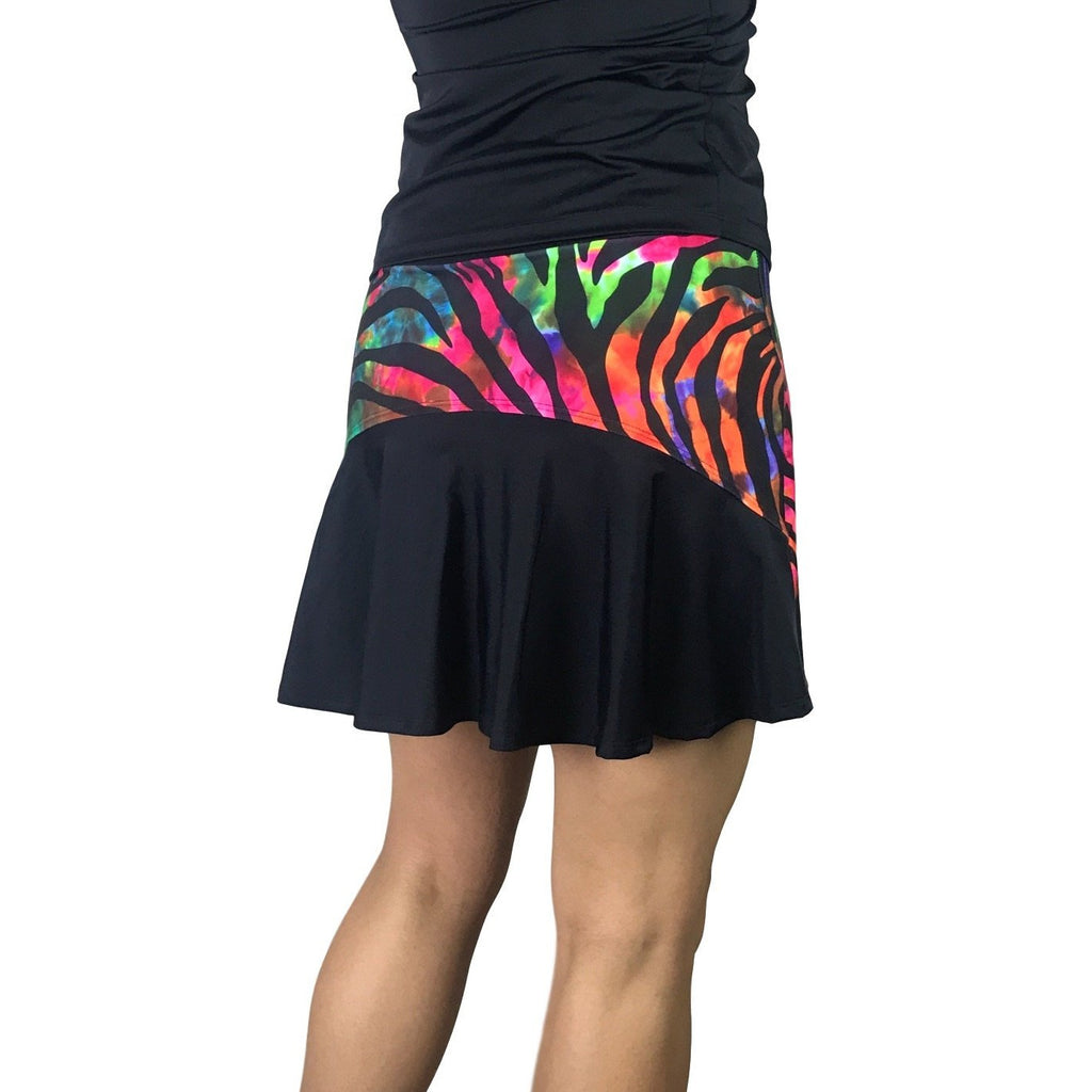 Colorful Zebra Print Athletic Flutter Skort - Smash Dandy