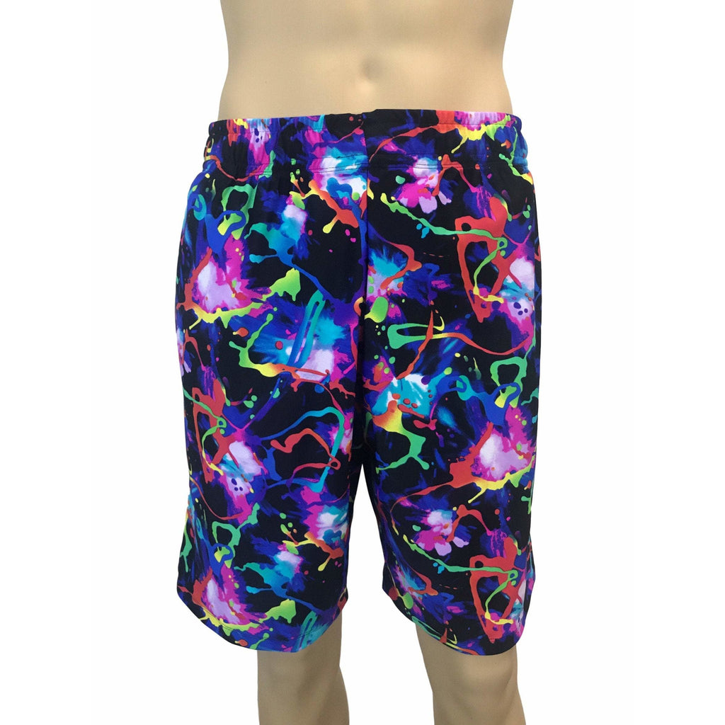 Neon Splatter Men's Basketball Shorts