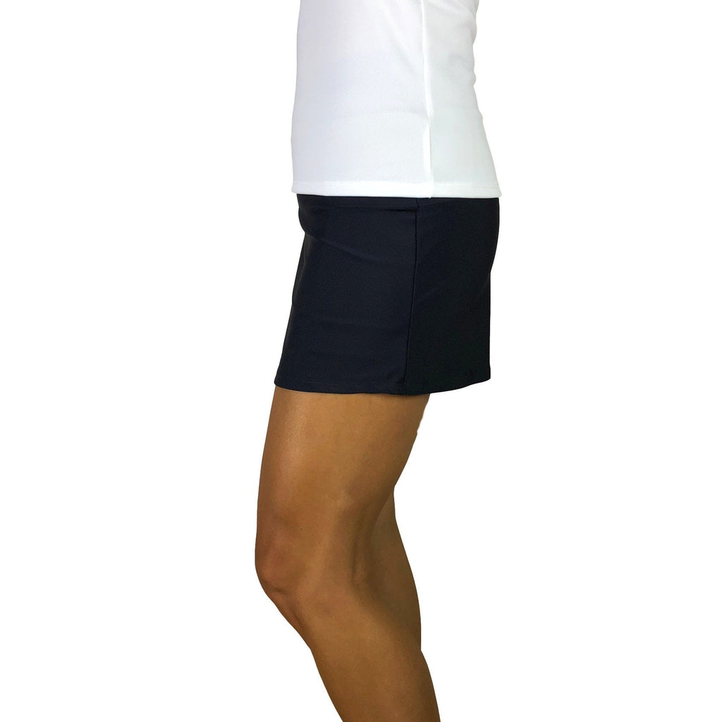 Black Athletic Slim Golf Skort - Smash Dandy