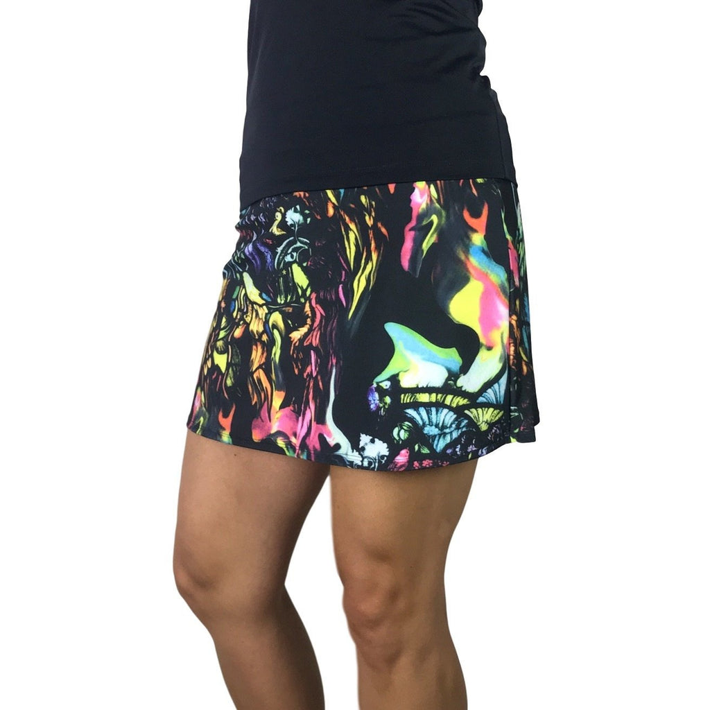 Watercolor Print Athletic Slim Skort - Smash Dandy