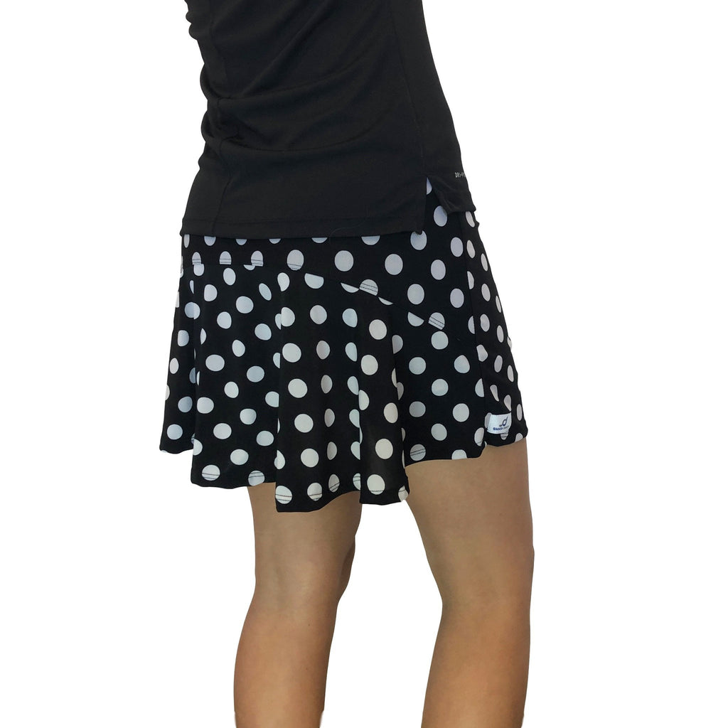 Polka Dot Athletic Flutter Golf, Running, Tennis Skort w/ pockets- Golf Skirt