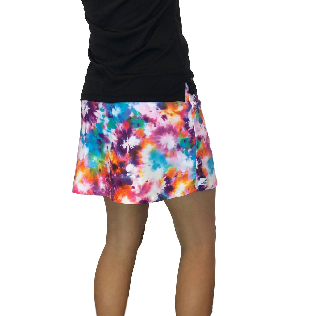 Tie Dyed Print Athletic Slim Golf Skort w/ pocket- Golf Skirt - Smash Dandy