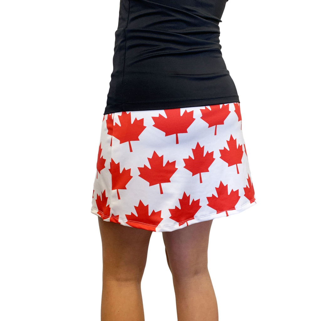 Canadian Flag Print Athletic Slim Golf Skort - Smash Dandy