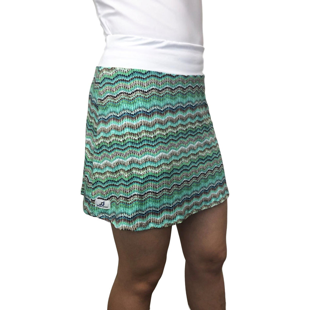Knitted Pattern Print Athletic Slim Golf Skort w/ pocket- Golf Skirt - Smash Dandy