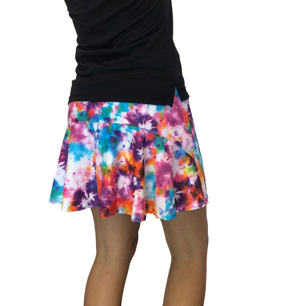 Tie Dye Athletic Flutter Golf, Running, Tennis Skort w/ pockets- Golf Skirt - Smash Dandy