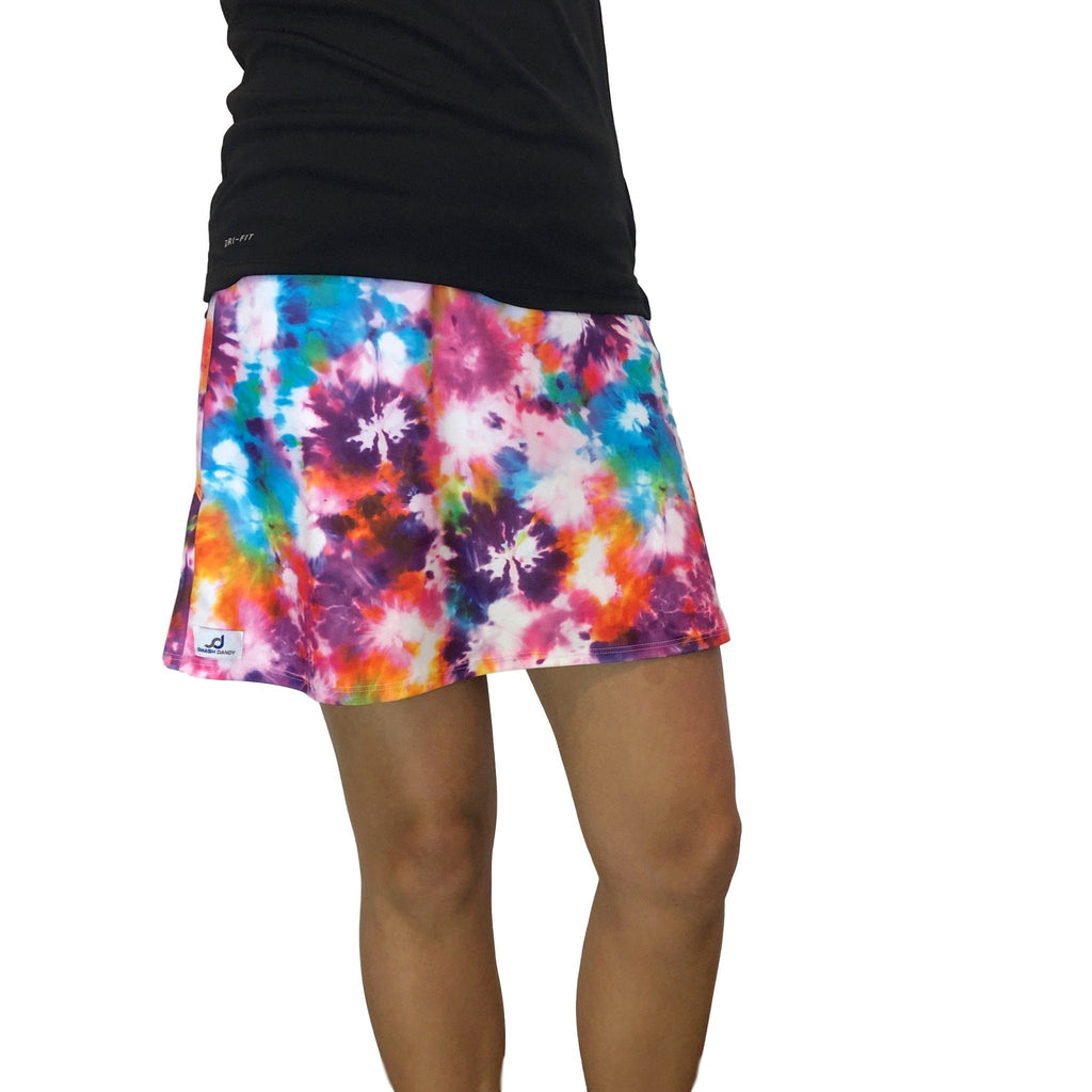 Tie Dye Athletic Flutter Golf, Running, Tennis Skort w/ pockets- Golf Skirt