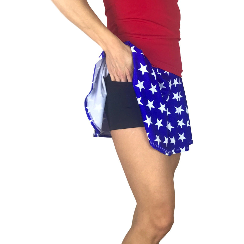 Wonder Woman Athletic Slim Skort w/ pocket- tennis skirt, golf skirt, running skirt - Smash Dandy