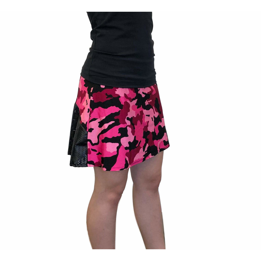 Camo Pink and Black Athletic Flutter Skort - Smash Dandy