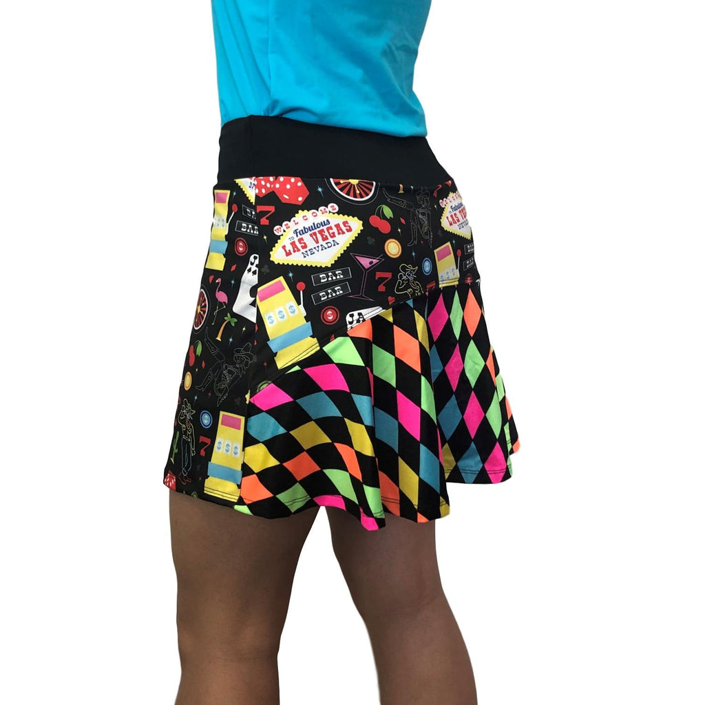 Vegas w/Neon Diamond Flutter Skort - Smash Dandy