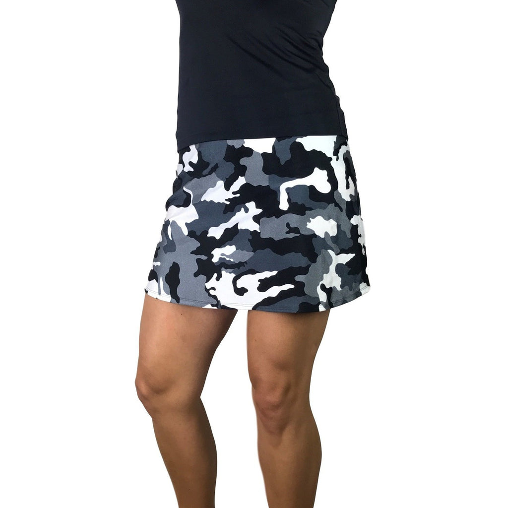 Black and White Camo Athletic Golf Outfit - Smash Dandy