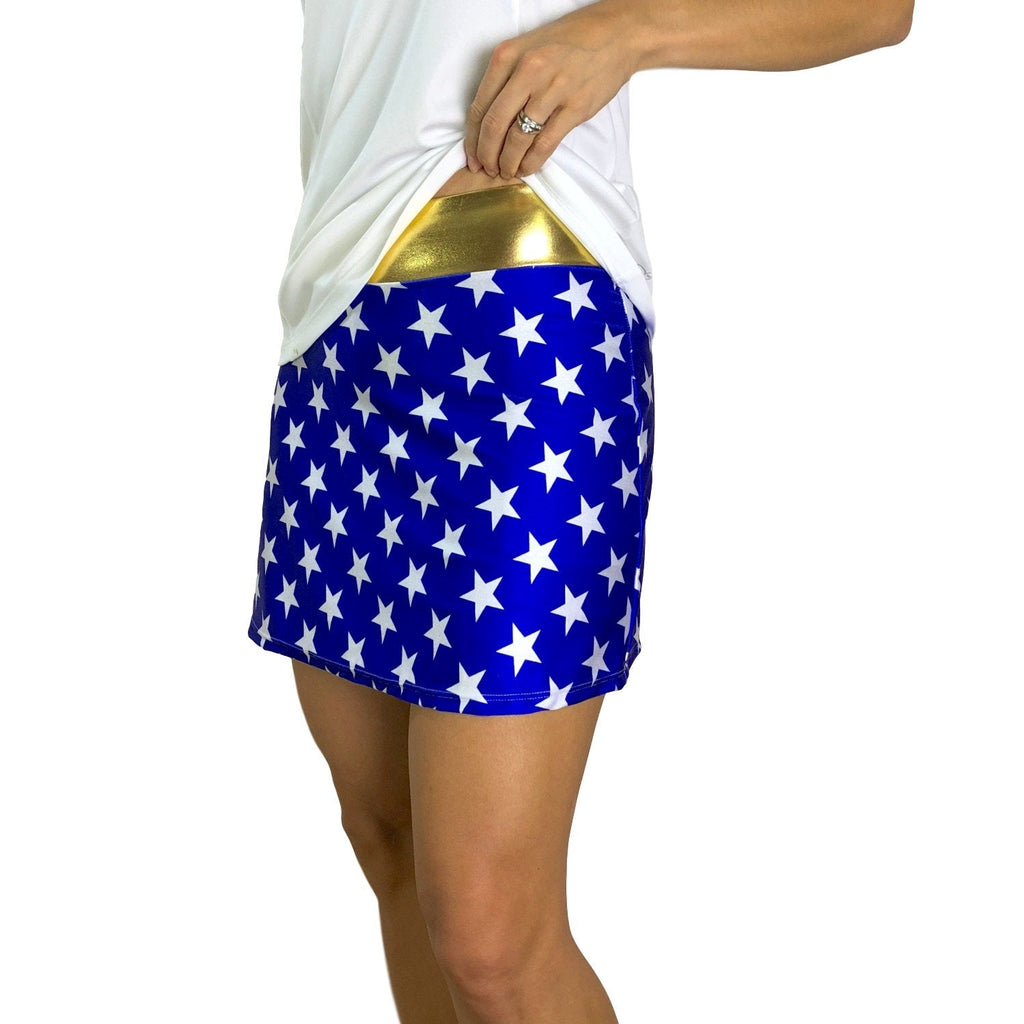 Wonder Woman Athletic Slim Skort w/ pocket- tennis skirt, golf skirt, running skirt