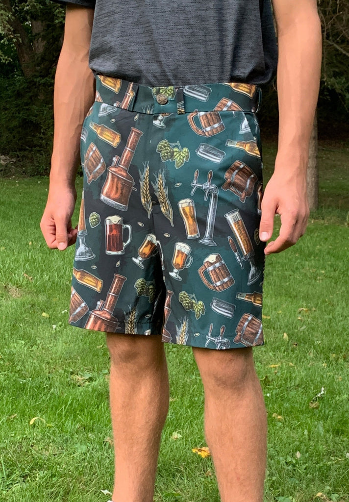 Beer Print Men's Golf Shorts - Smash Dandy