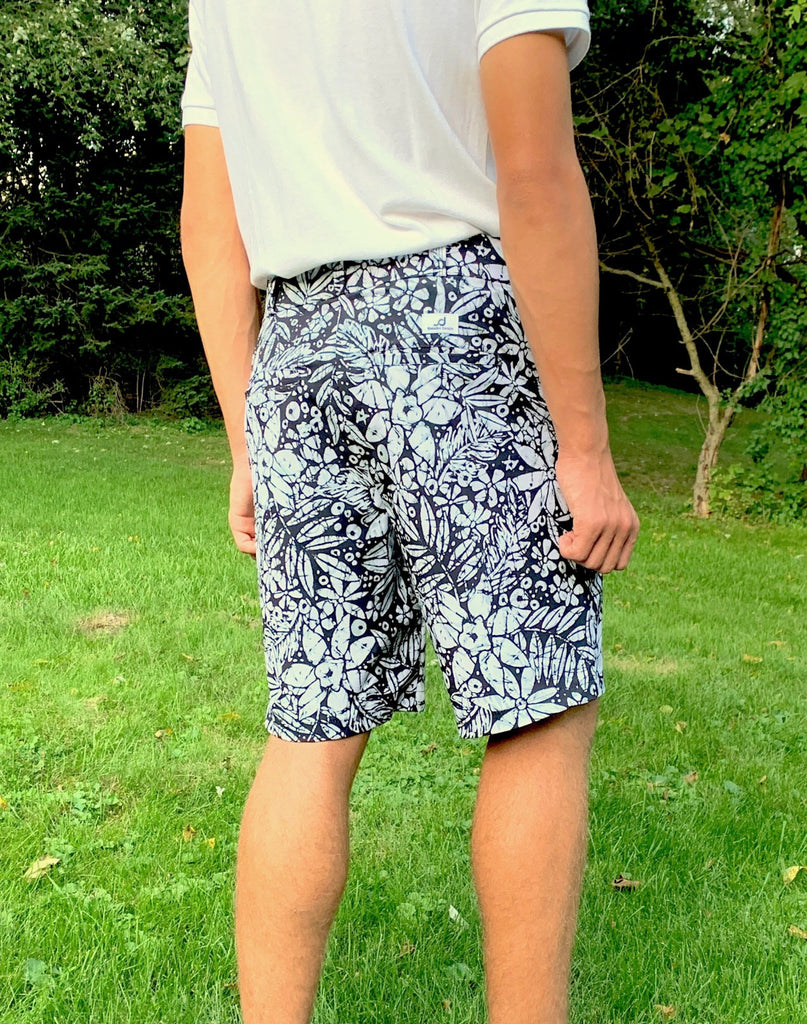 Batik Print Men's Golf Shorts - Smash Dandy