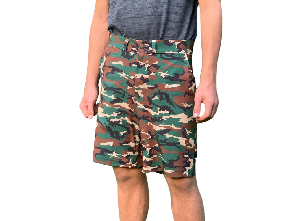 Camo Print Men's Golf Shorts - Smash Dandy