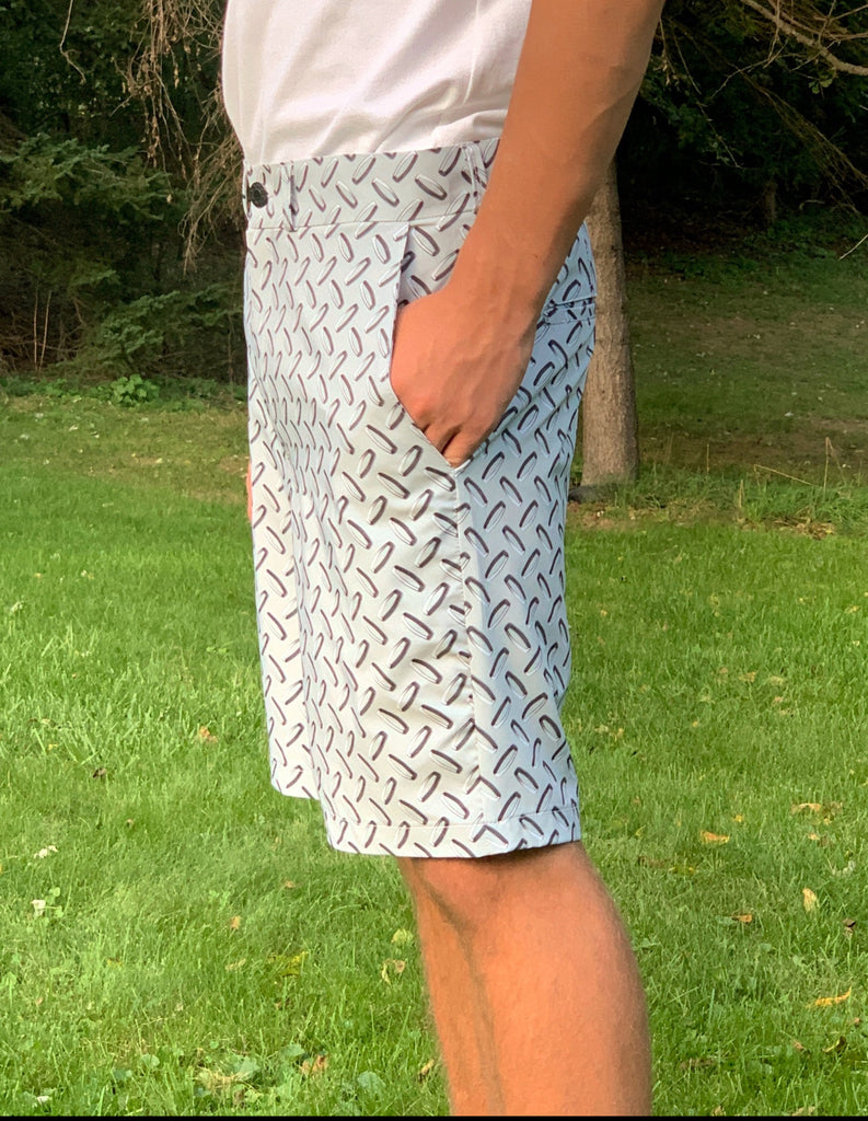 Diamond Plate Men's Golf Shorts - Smash Dandy