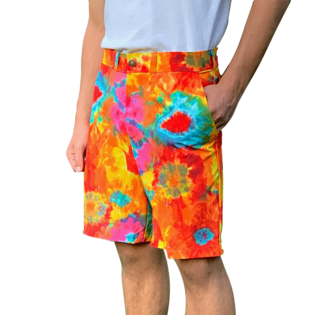 Tie Dye Print Men's Golf Shorts - Smash Dandy