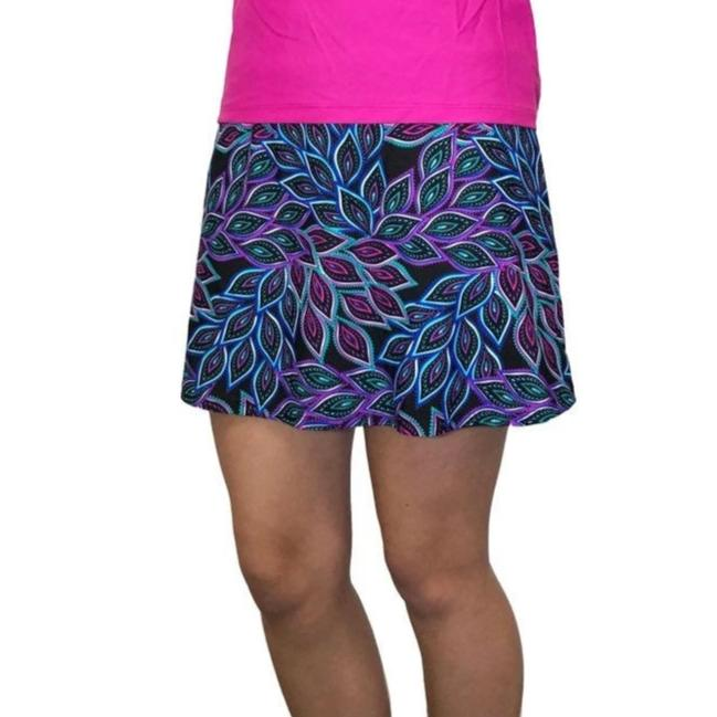 Peacock Printed Athletic Flutter Skort - Golf or Tennis Skirt - Smash Dandy