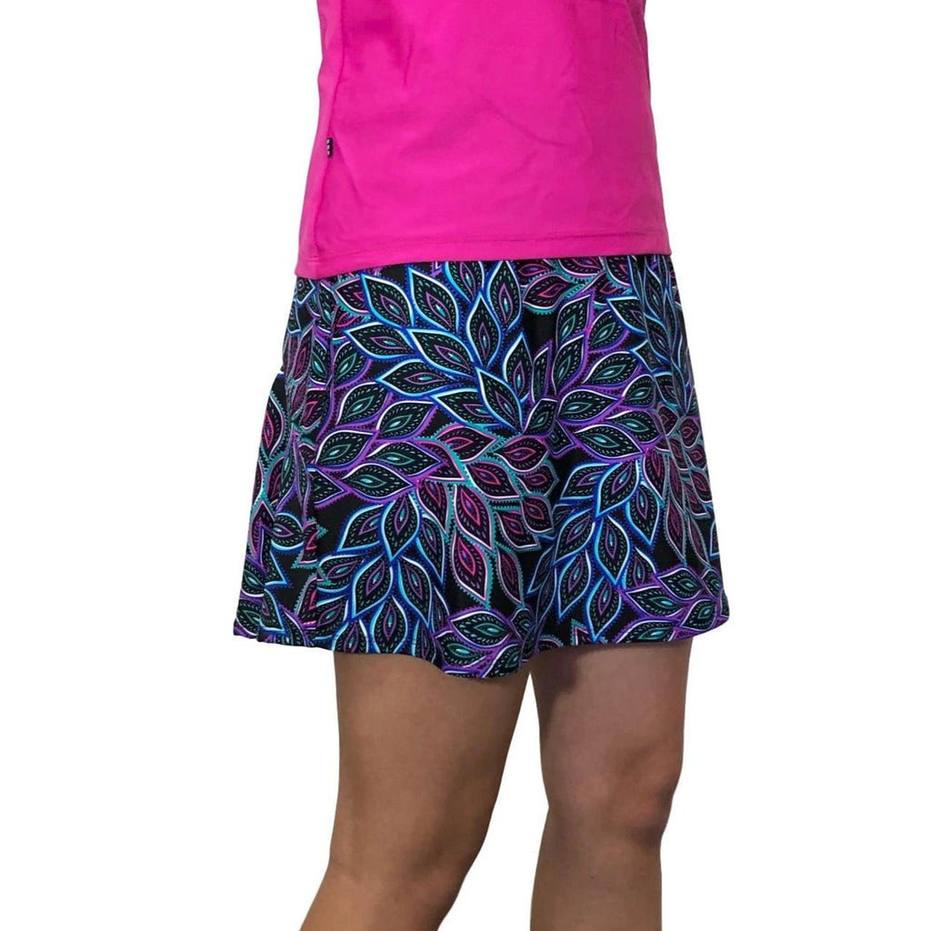 Peacock Print Athletic Slim Golf Skort - Tennis Skirt - Smash Dandy