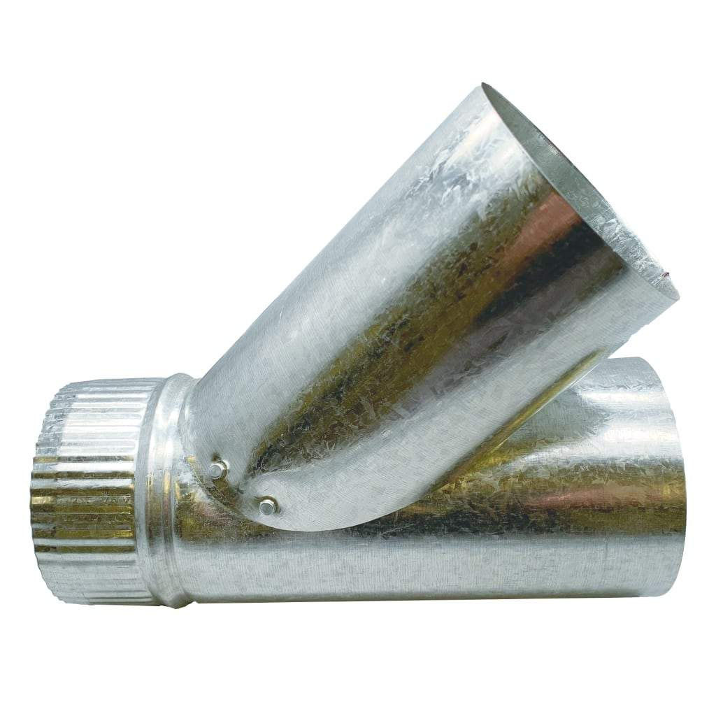Wye (y) ducting connector. White background