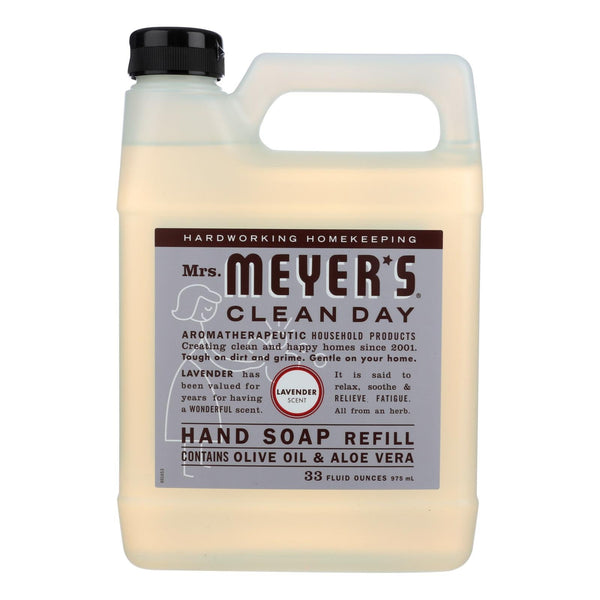 Mrs. Meyer's Clean Day Liquid Hand Soap, Lavender, 33 Fl. Oz Bottle