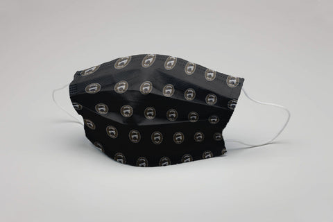 Black Logo Cloth Face Mask