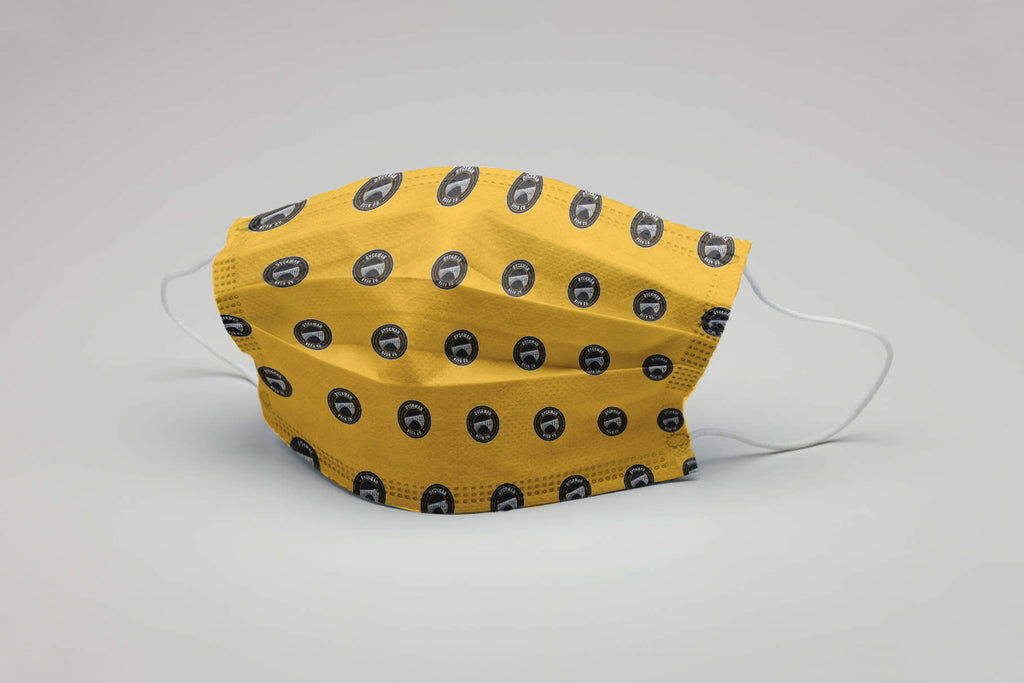 Yellow Logo Cloth Face Mask