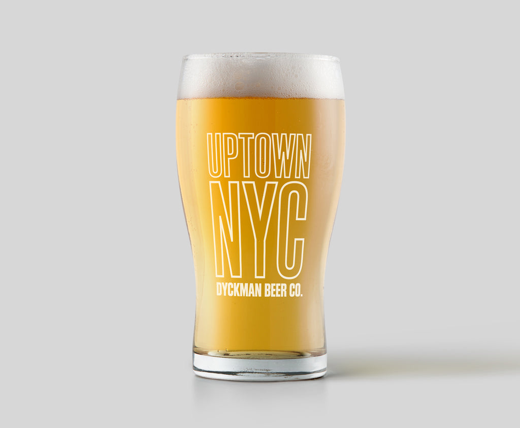 Uptown NYC Pint Glass