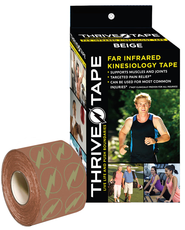 "THRIVE TAPE ""FAR INFRARED"" KINESIOLOGY TAPE (BEIGE) - Thrive ""Far Infrared"" Kinesiology-Kinesio Tape  (thrivetape.com)"