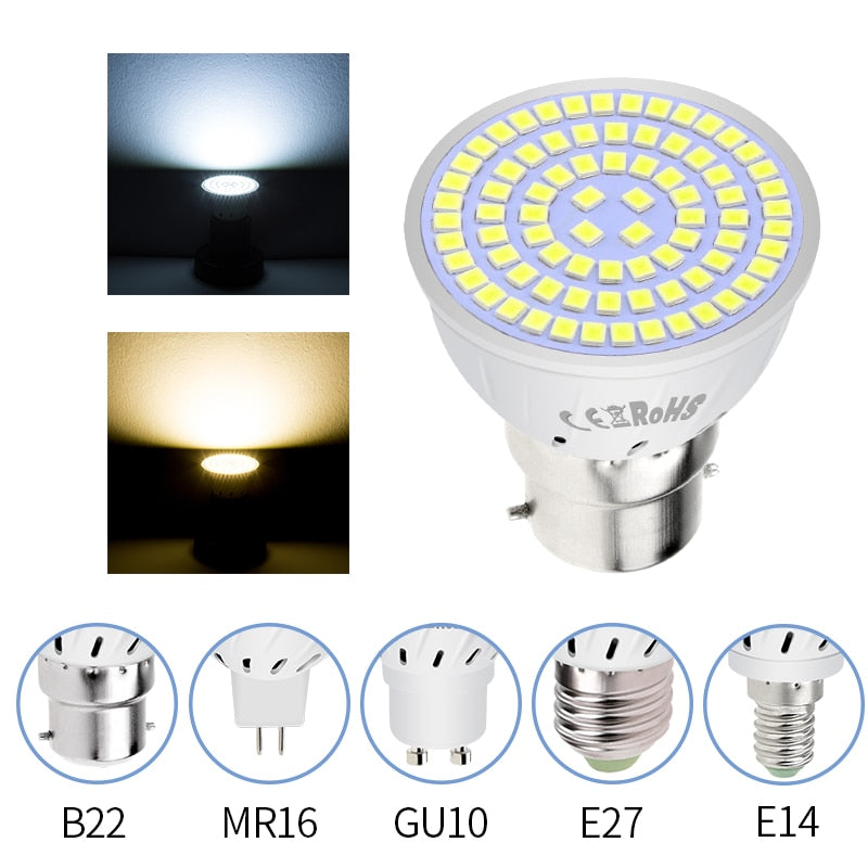 LED GU10 Spotlight Bulb Corn Lamp MR16 Spot light Bulb GU5.3 Lampada LED 220V E27 Bombillas Led E14 Ampoule led maison B22 2835