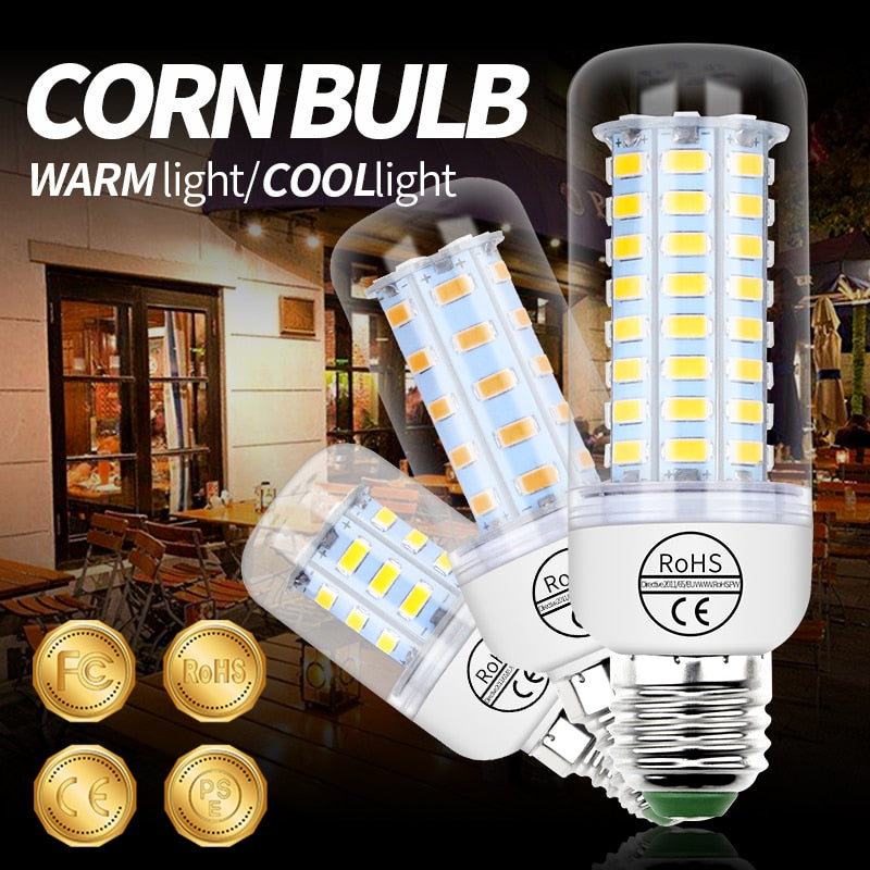 E27 LED Corn Lamp 220V Light Bulb E14 LED Lamp GU10 bombillas led lampada Home Ampoule 5730 SMD 3W 5W 7W 12W 15W 18W 20W 25W