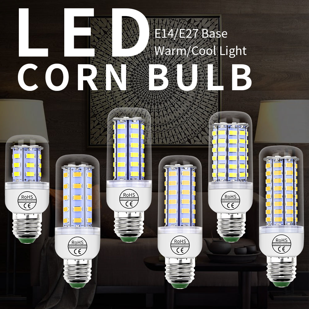 E14 LED 220V Corn Light E27 Led Lamp GU10 Lampada Led 3W Candle Light Bulb 24 36 48 56 69 72leds Energy Saving Home Light 240V