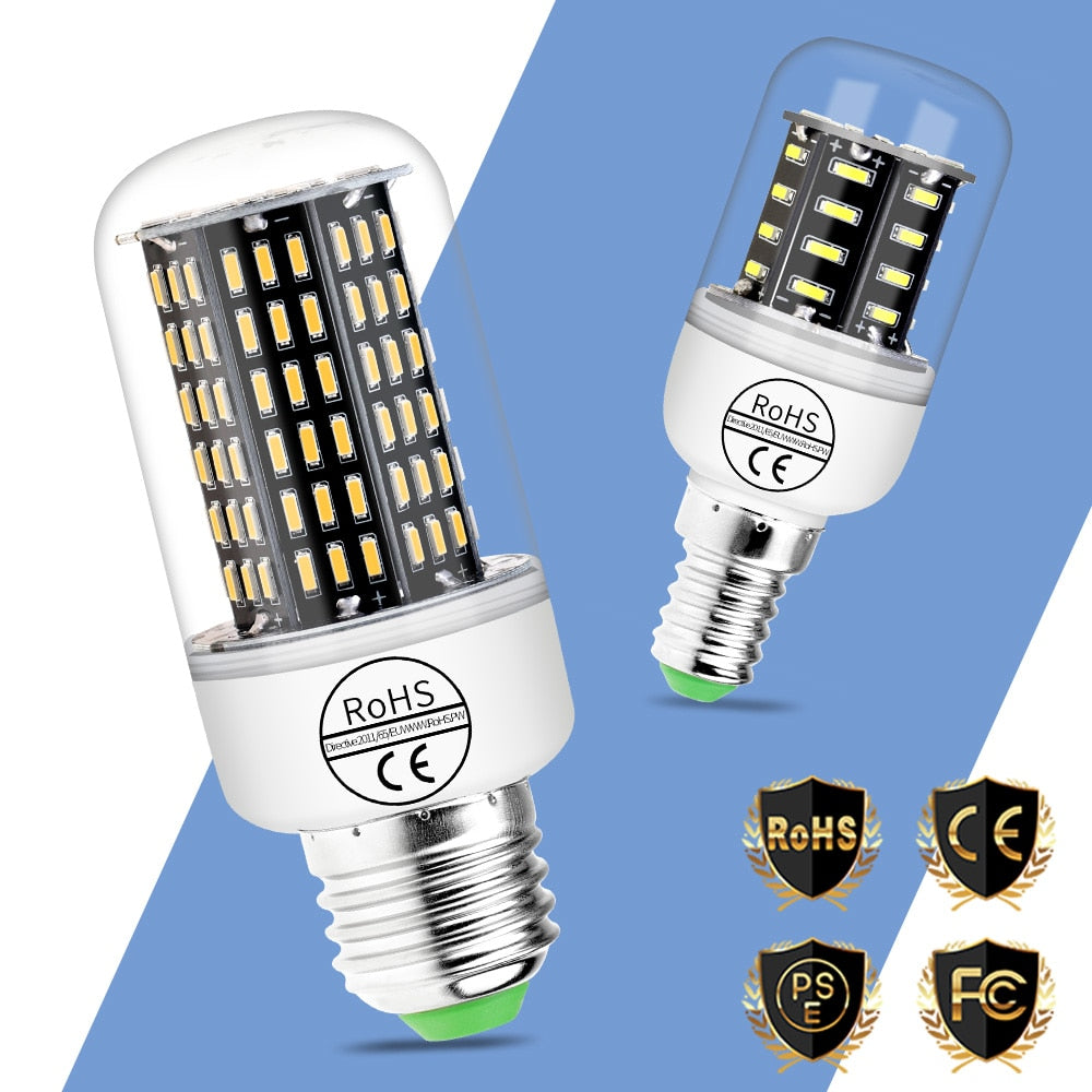 Led Corn Bulb E27 E14 Home Lamp 220V 230V Bombilla 3W 5W 7W 9W 12W Lampada Living Room Decoration Light 38 55 78 88 140leds 4014