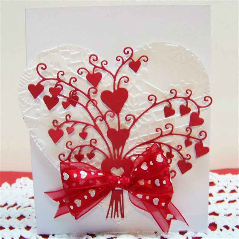 DiyArts Heart Bouquet Metal Cutting Dies For Scrapbooking Card Making Photo Album Embossing Crafts Diecut Christmas New 2019