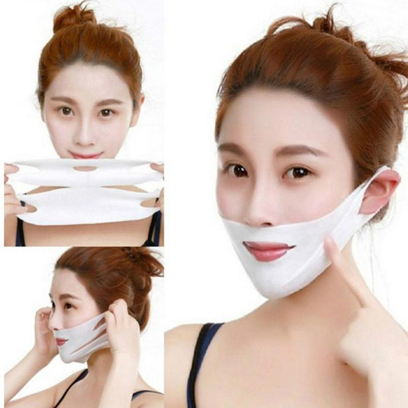 4D Double V Face Hanging Ear Face Paste Hydrogel Mask Lifting Firming Thin Masseter Double Chin Mask