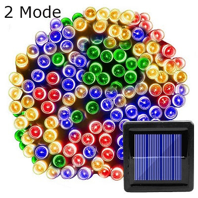 100 Led Solar String Light Outdoor Waterproof for Garden Decoration 3Mode Christmas Garland Solar Powered Lamp Fairy Strip Light
