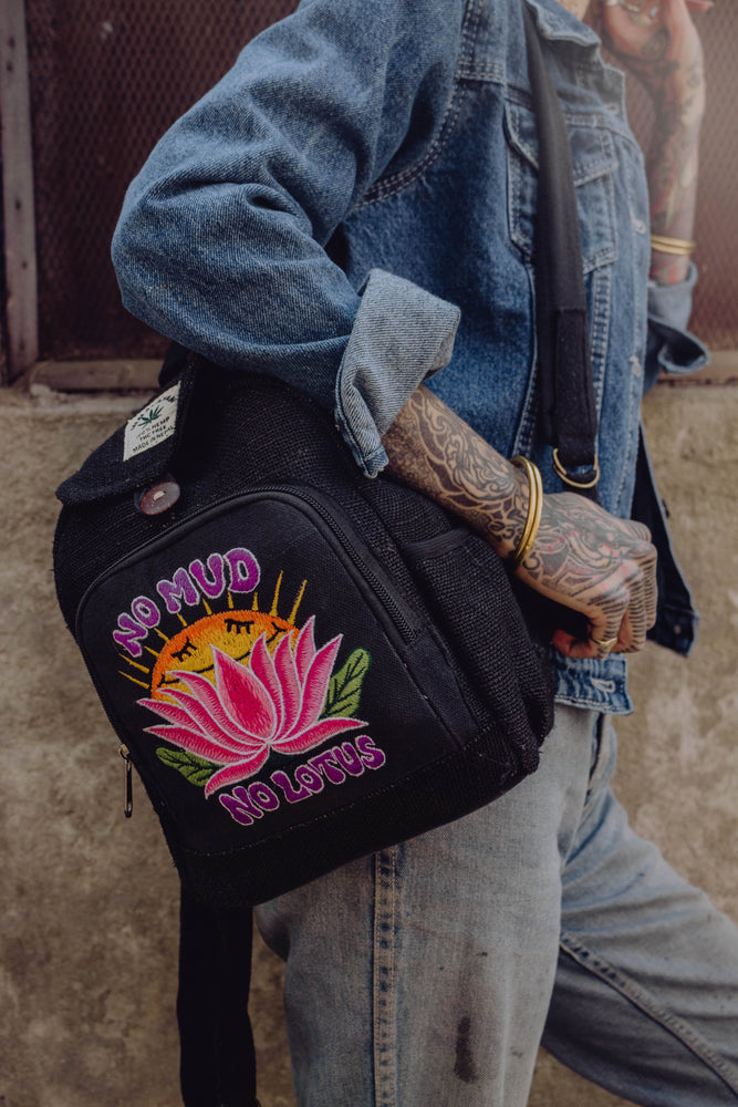 No Mud, No Lotus - 100% Hemp Backpacks