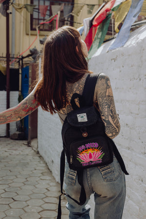 Load image into Gallery viewer, No Mud, No Lotus - 100% Hemp Backpacks