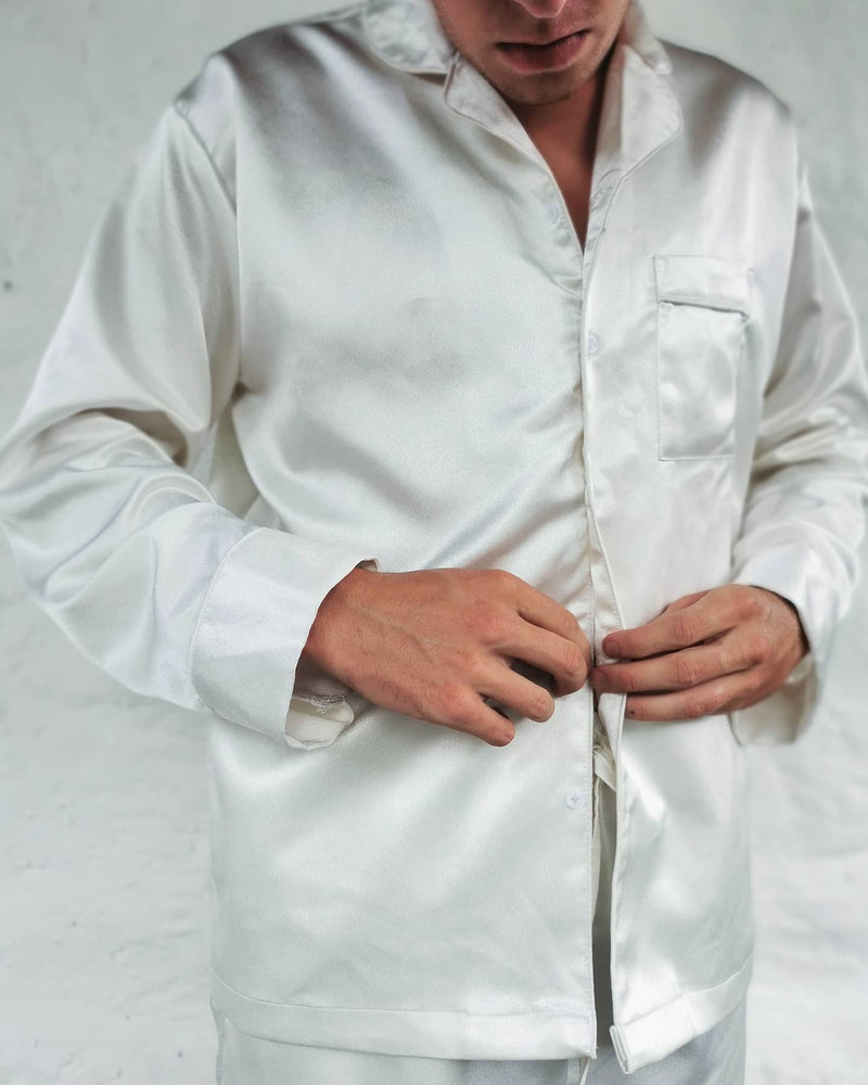 Load image into Gallery viewer, Yang Shirt - Long Style - WHITE