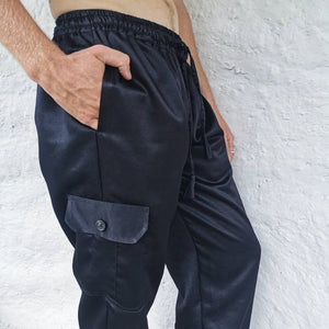 Load image into Gallery viewer, Yin Pants - Straight Leg, Side Pocket - BLACK