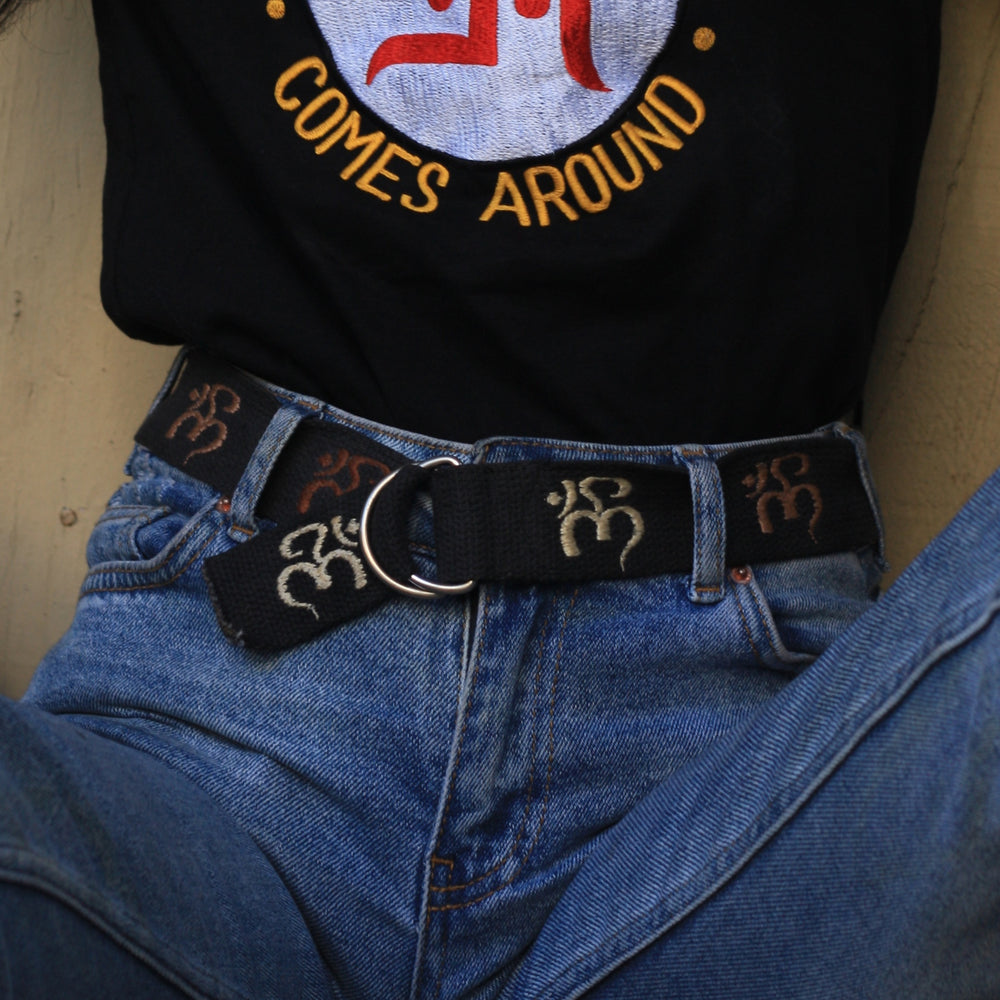 OM - Embroidered Fabric Belt