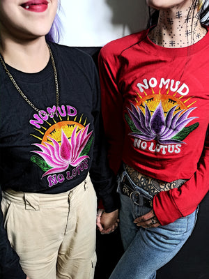 Load image into Gallery viewer, No Mud, No Lotus - Red Longsleeve