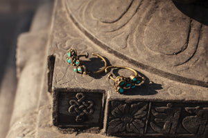 Load image into Gallery viewer, Vintage - Tibetan Turquoise Ear Weights