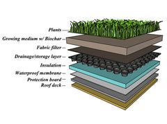 Green Roof Installation - Biochar