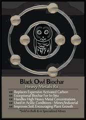 Black Owl Biochar Heavy Metal Mix - Mines and Industrial