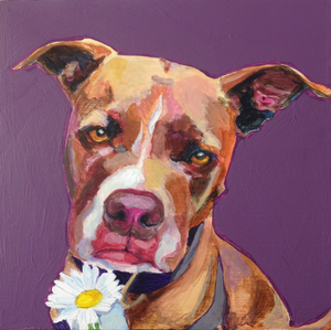 Custom 6x6 Pet Portrait Painting