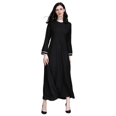 Plain Zipped Abaya