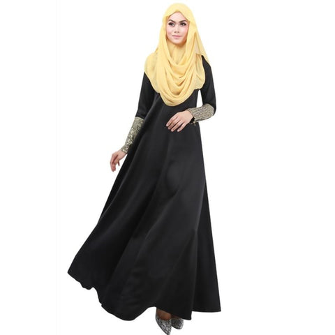 Fancy Sleeved Abaya