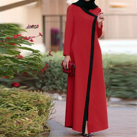 Red Abaya with Open Front