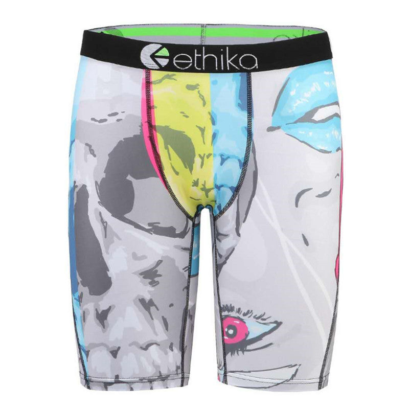 Ethika mens boxers underwear pattern Comfortable brand underpants cueca sexy male ice silk boxer long shorts sport man